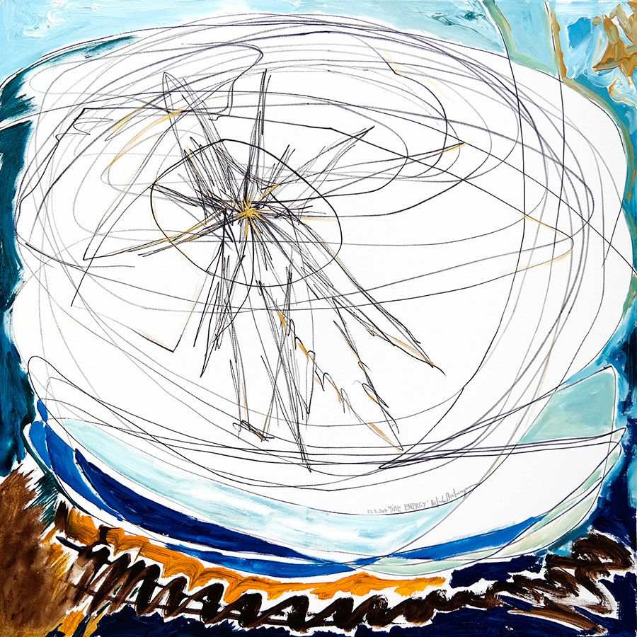 Time Energy - painting by Michel Montecrossa