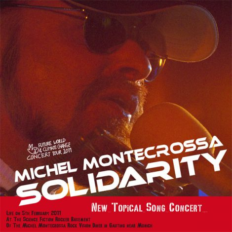 album cover - Michel Montecrossa's 'Solidarity New Topical Song Concert'