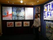 CREATION ART EXHIBITION of Michel Montecrossa paintings and drawings; preparations - picture 3