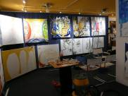 CREATION ART EXHIBITION of Michel Montecrossa paintings and drawings; preparations - picture 11