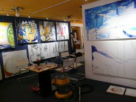 CREATION ART EXHIBITION of Michel Montecrossa paintings and drawings; preparations - picture 13