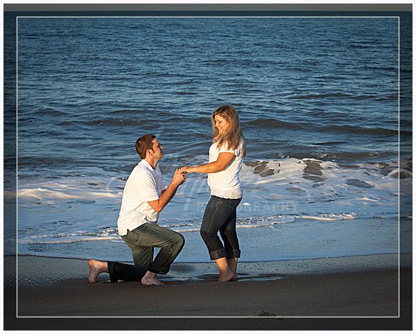 beach engagement portrait