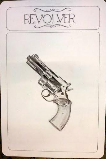 Carte du Cluedo : Le revolver