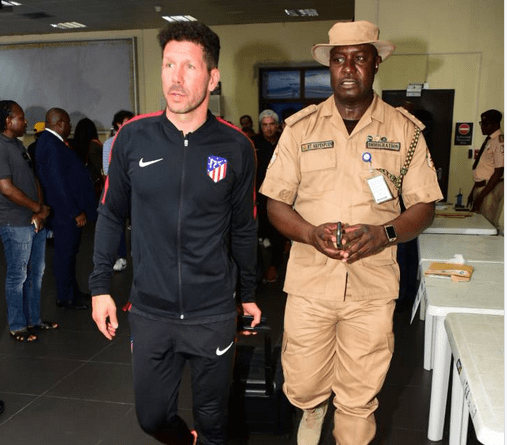 [PHOTOS] Athletico Madrid Arrives Nigeria Ahead Of Friendly In Uyo