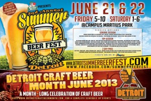 Detroit Summer Beer Fest 2013 Flyer