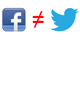 don't link facebook and twitter