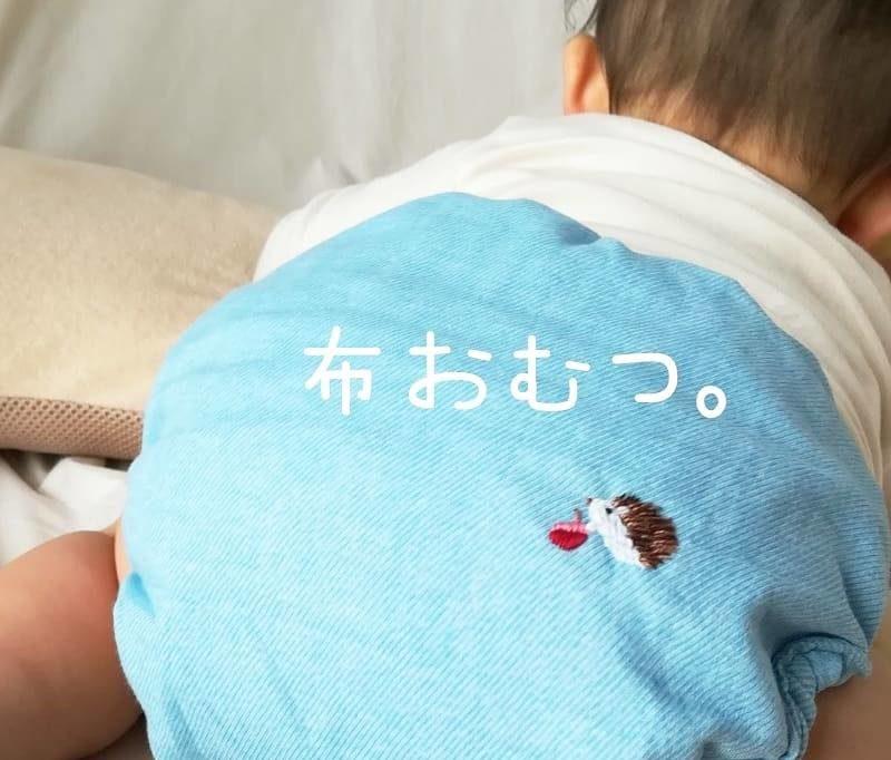 布おむつ・ハリネズミ刺繍