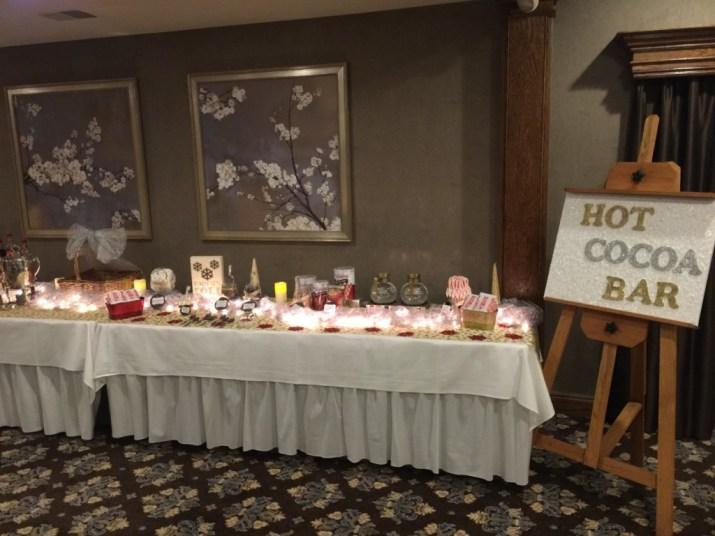 Southeast Michigan Addison Oaks Estate Wedding Reception Hot Chocolate Bar