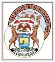 Image of Coat of arms superimposed over the Great Seal