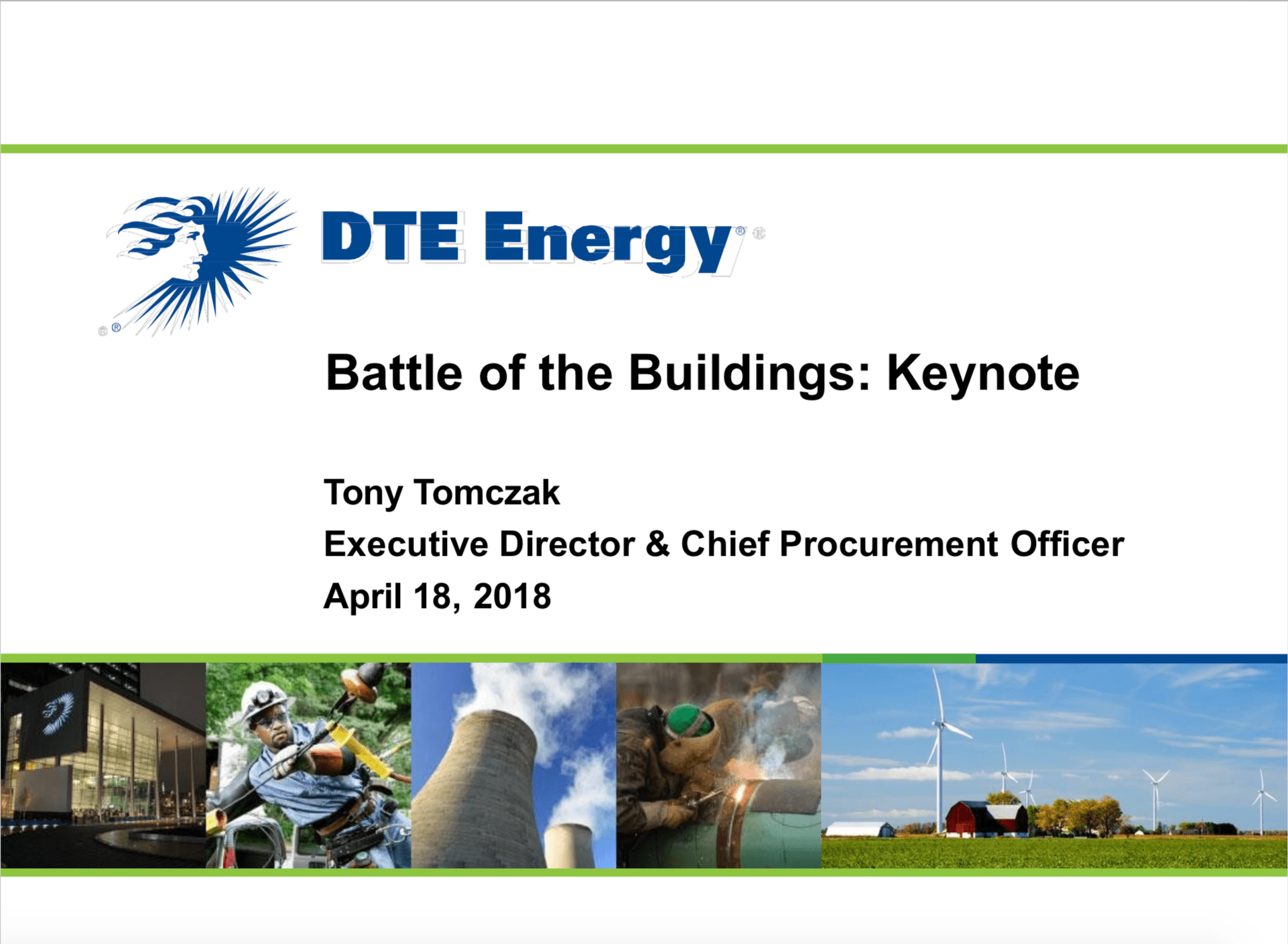 DTE Energy - Tony Tomczak