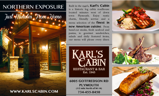 Karls Cabin Print Ad Design by Michigan Business Designs
