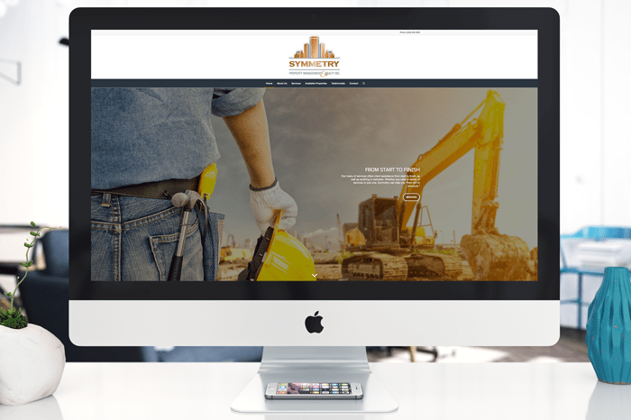Symmetry Property Management Web Design by Michigan Business Designs