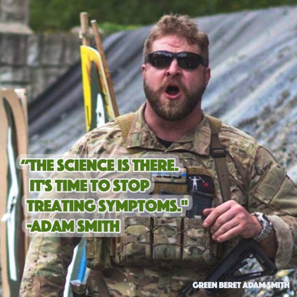 """""""The science is there. It's time to stop treating symptoms."""" -Adam Smith"""