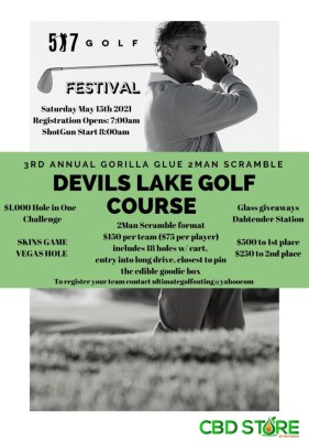 Gorilla Glue 2 Man Scramble at Devils Lake Golf Course