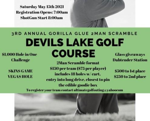 Gorilla Glue 2 Man Scramble at Devils Lake Golf Course