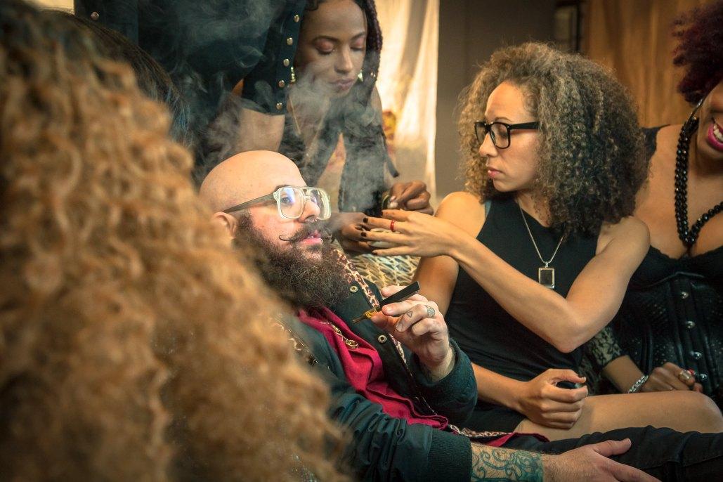 Cannabis Consumption Lounge Cannaclusive Stock Photo