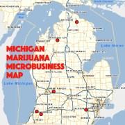 Michigan Marijuana Microbusiness Map