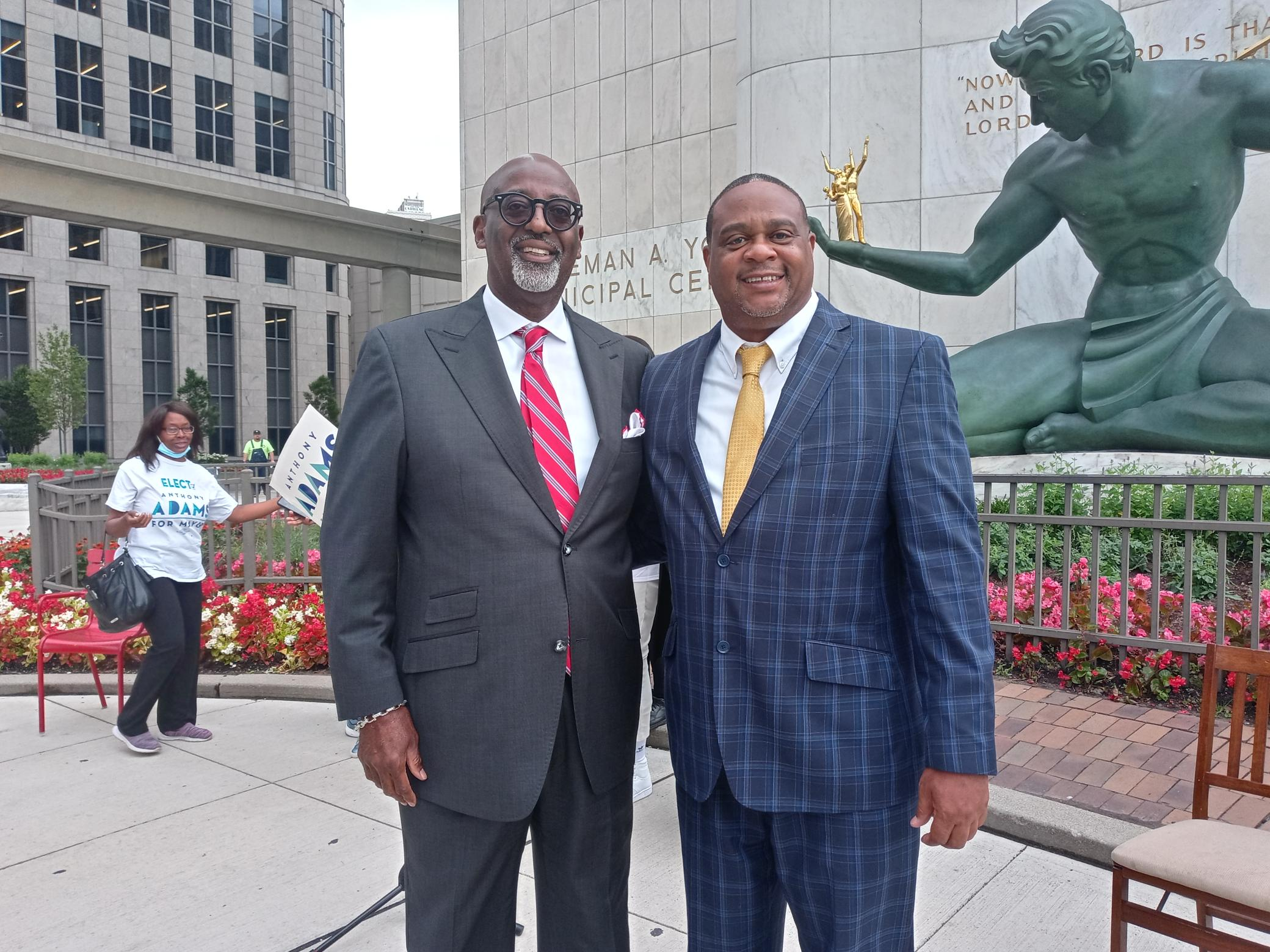 Pittsburgh Democratic Mayor Nominee Ed Gainey Joined Anthony Adams on Campaign Trail