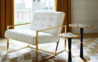 Jonathan Adler Goldfinger Lounge Chair - Michigan Home and Lifestyle Magazine