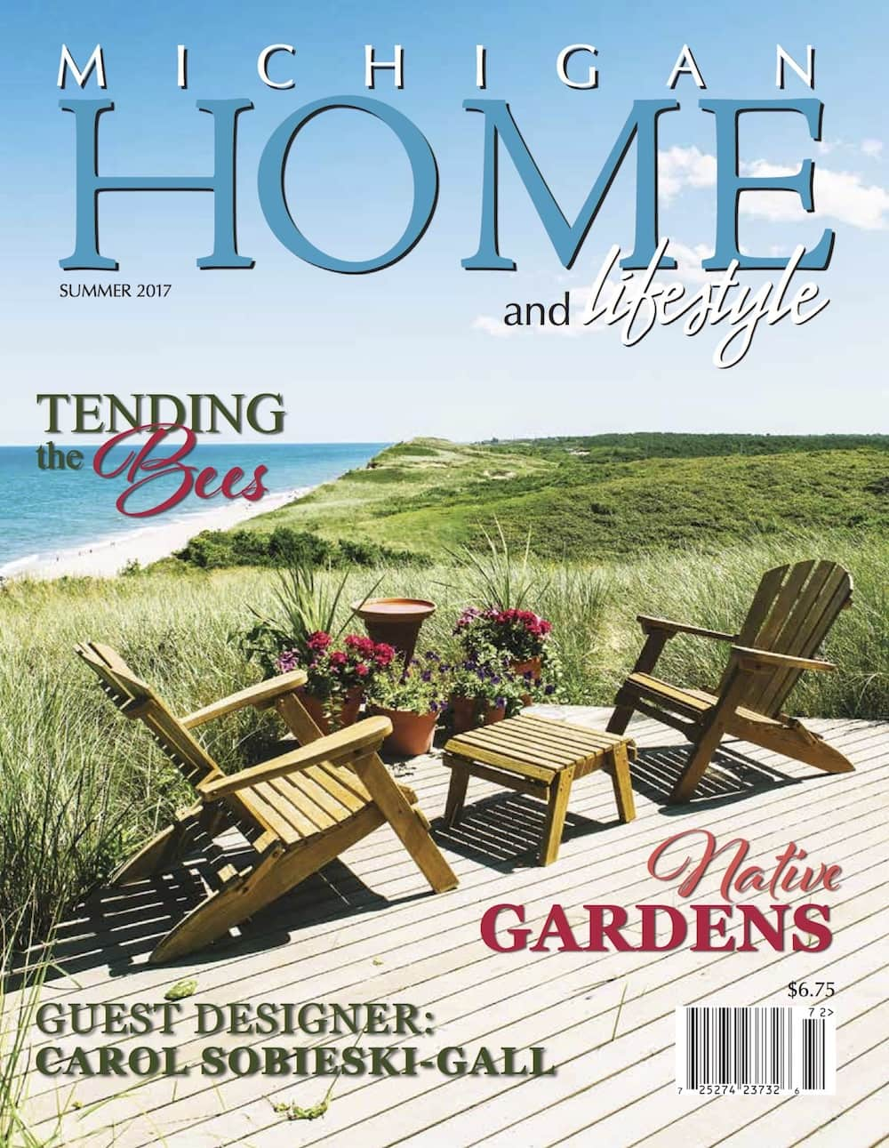 summer 2017 cover michigan home and lifestyle michigan home and lifestyle magazine. Black Bedroom Furniture Sets. Home Design Ideas