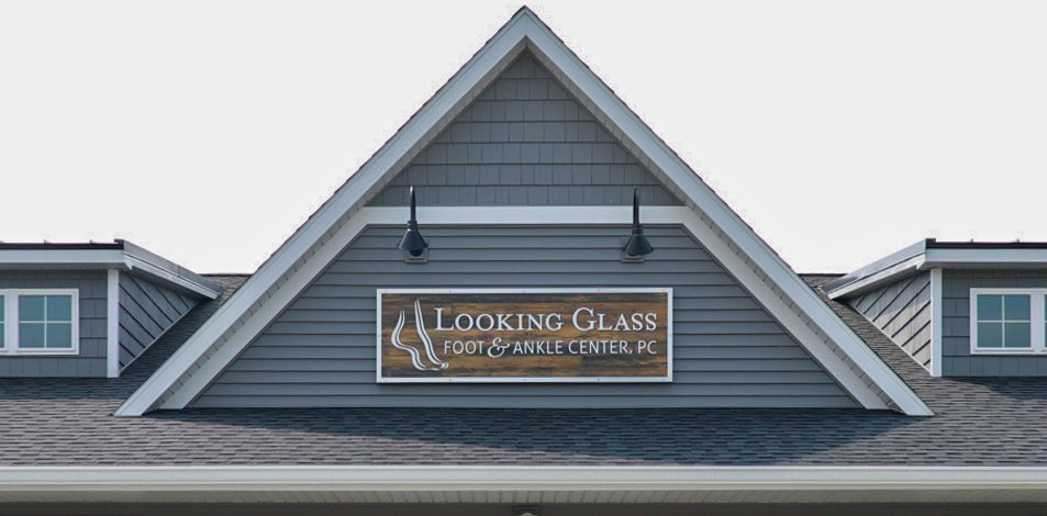 New business sign made from wood and metal for Michigan based Business