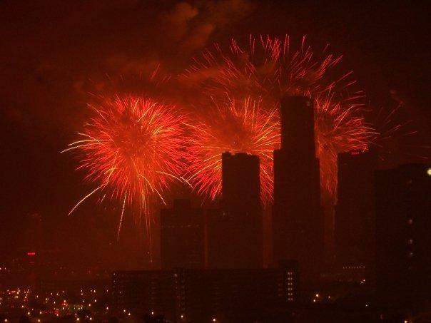 Downtown Detroit June 24th Fireworks