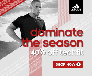 adidas 40% Off Techfit & Free Shipping through 1/1/14
