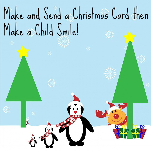 Making Christmas Cards for Methodist Children's Home Society-Redford