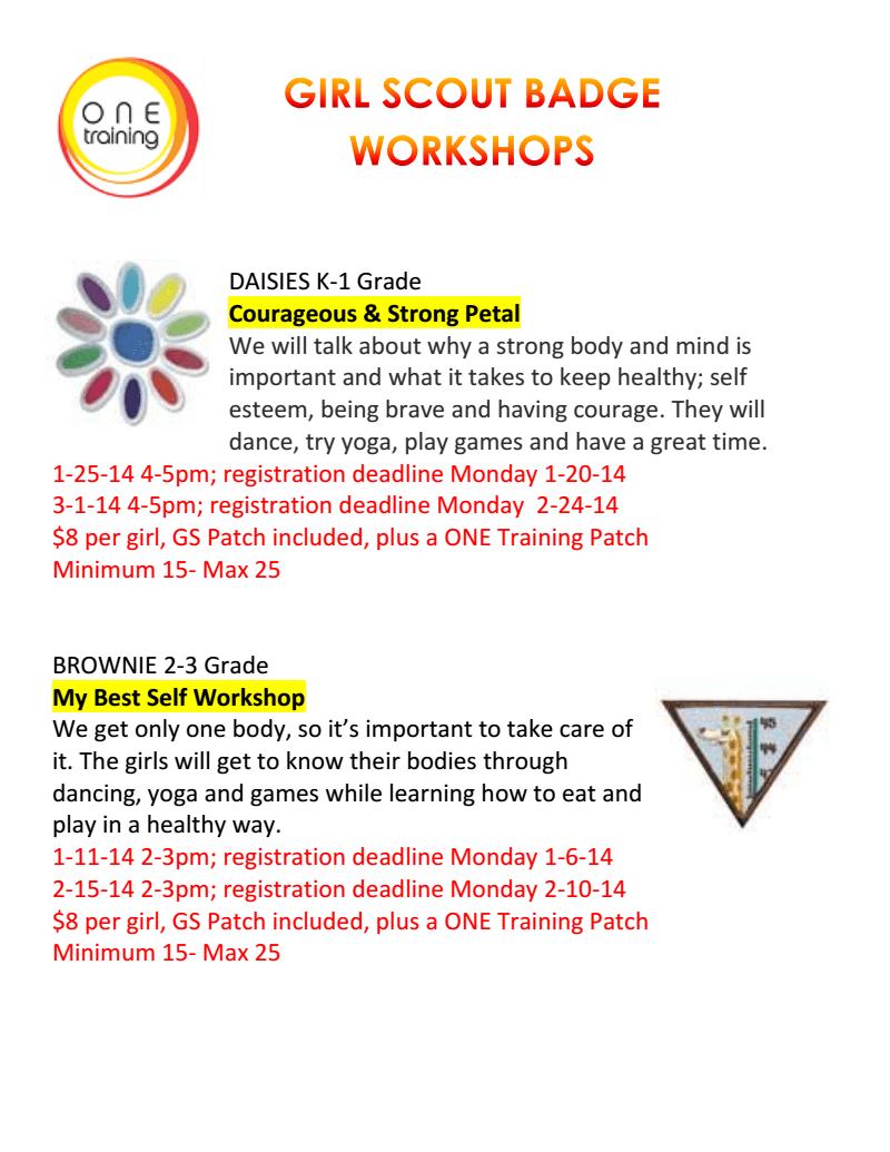 Girl Scout Badge Workshops-Novi