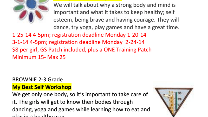 Girl Scout Badge Workshops-Novi