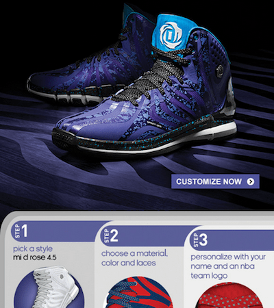 adidas D.Rose: Design your Own Shoes