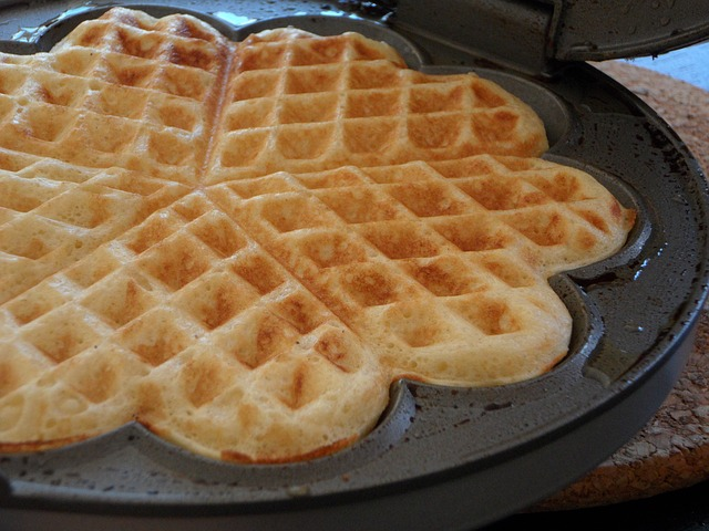 Banana Light 'n Crispy Waffles