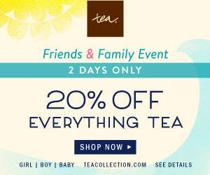 Friends & Family Sale: 20% Off at Tea Collection