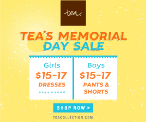 Tea Collection's Memorial Day Sale Ends 5/26