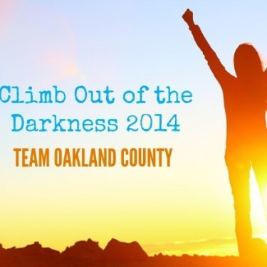 Climb Out of the Darkness 2014-Team Oakland County