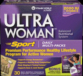 Ultra Woman Sport Daily Multi-Packs PLUS Zumba Ultimate Cardio Jam {Review}