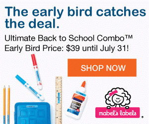 LAST CHANCE: Mabel's Labels Back-To-Sc​hool Early Bird Pricing