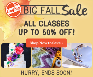 #Craftsy's Big Fall Course Sale Ends 9/22