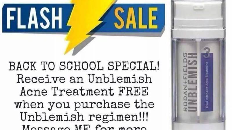 Back to School Flash Sale: Unblemish #AcneTreatment Free with Purchase