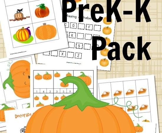 Celebrate #Pumpkins with a PreK-K Printable Pack