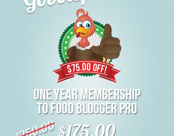 The Gobblepalo​oza Sale for the Food Blogger Ends 12/5