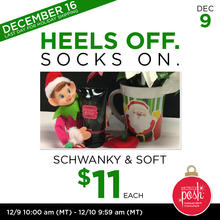 December 9th #Poshmas: Heels off Socks On Schwanky & Soft $11 Each