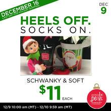 December 9th #Poshmas: Heels off Socks On Schwanky & Soft $11 Each