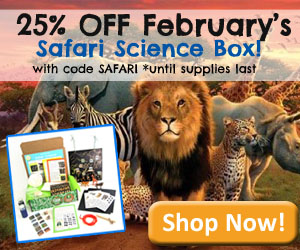 25% off February Safari Science Discovery Box