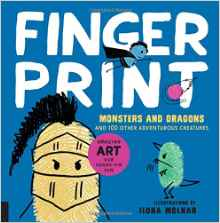 Finger Print Monsters and Dragons {Book Review}