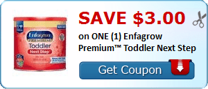 Daily Coupon Deals: Save $3 On ONE Enfagrow Premium Toddler Next Step #CouponAd #AffiliateLink