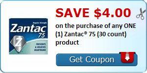 Daily Coupon Deals: Save $4.00 on One Zantac 75 #CouponAd #AffiliateLink