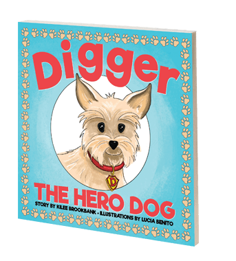 A REAL-LIFE Story About a FUR-REAL Hero: Digger The Hero Dog {Book Review}