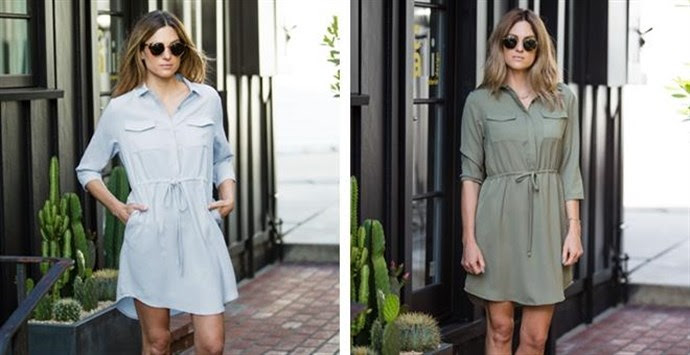 Drawstring Waist Shirtdress – Was $74.99 – Ships for $20.98!  Ends 7/7/18