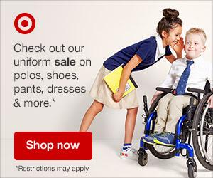 Uniform Sale: $5 Polos, $10 Pants, PLUS 10% off all other Uniforms, PLUS Kids Uniform Shoes are on Sale Starting at $15. Ends 7/14